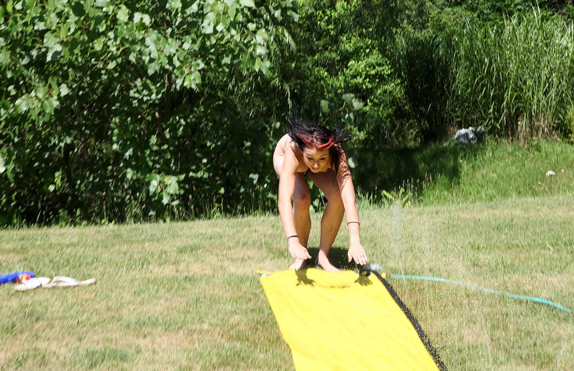 Nudist Photos Amazing Slip n Slide Ride - 2