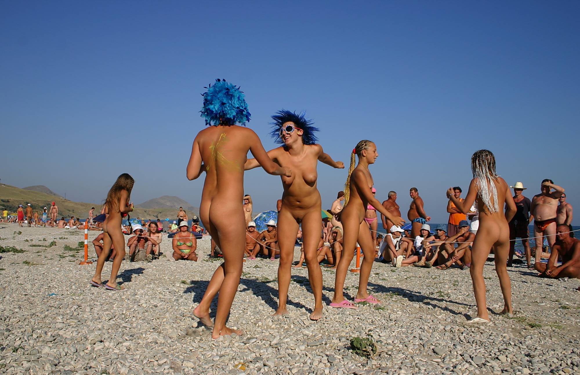 Pure Nudism Photos Blue Haired Sand Dance - 1