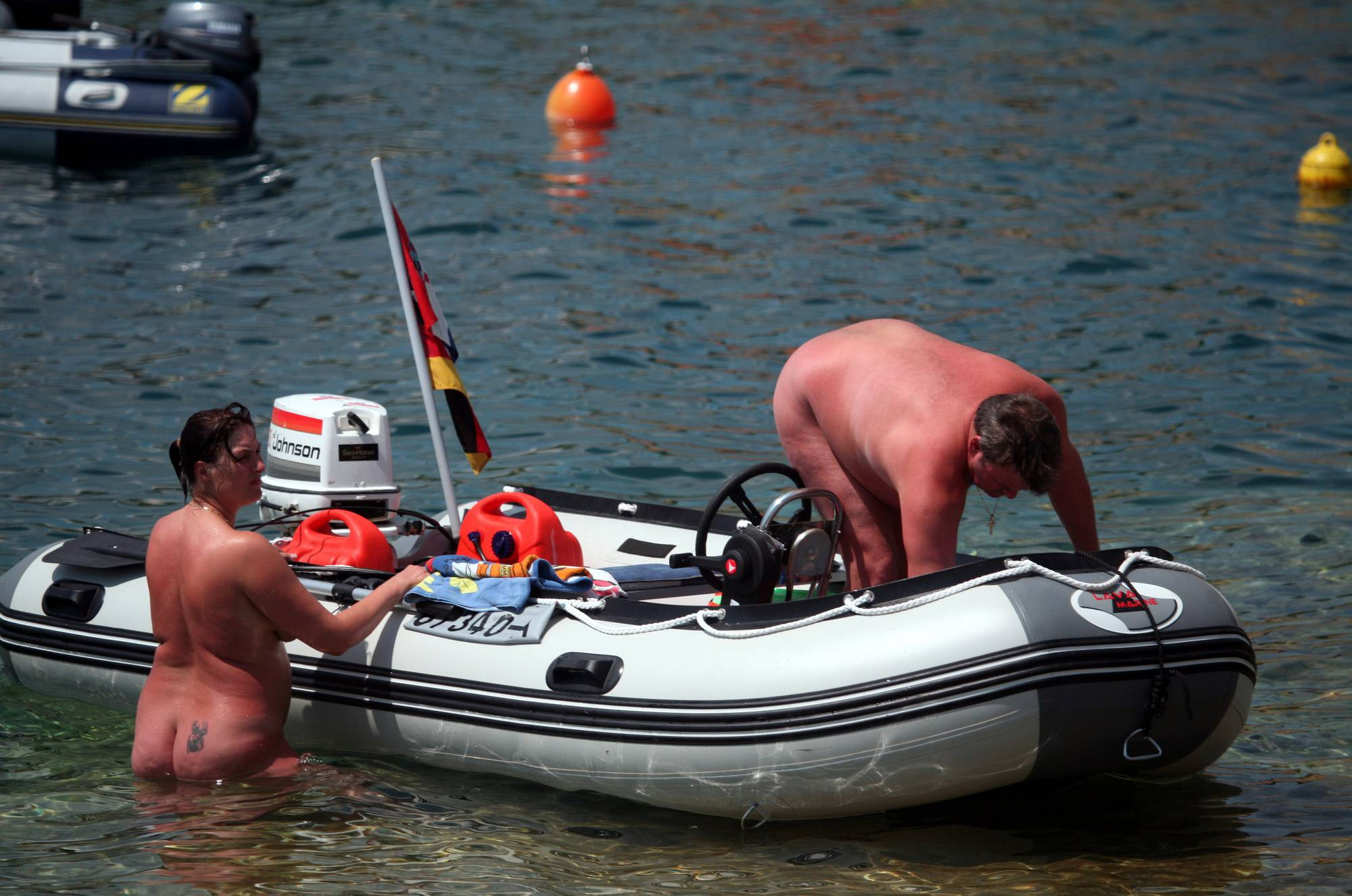 Pure Nudism Photos Boating and Floater Waters - 1