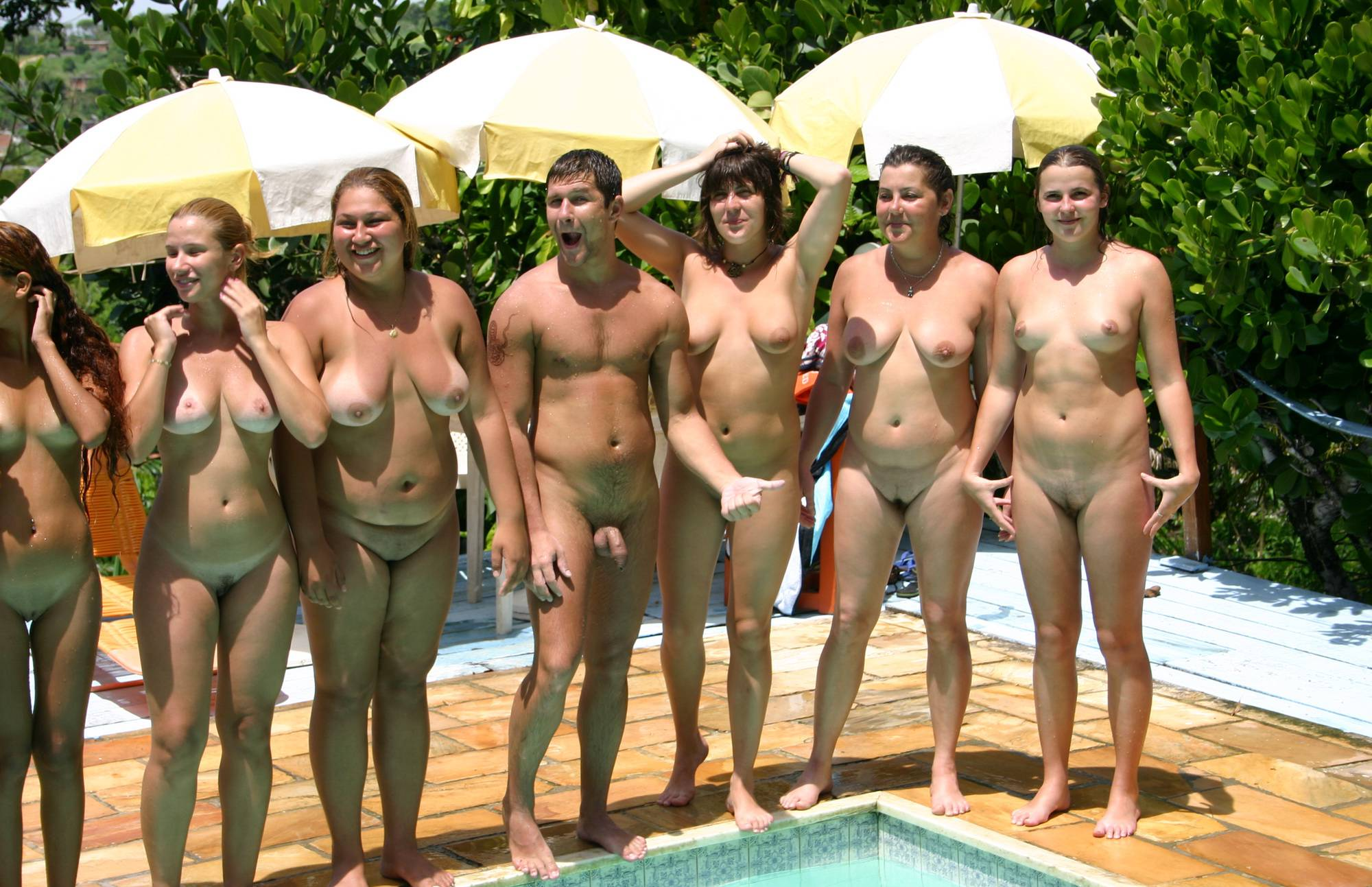 Nudist Pictures Brazilian Pool Line Group - 2