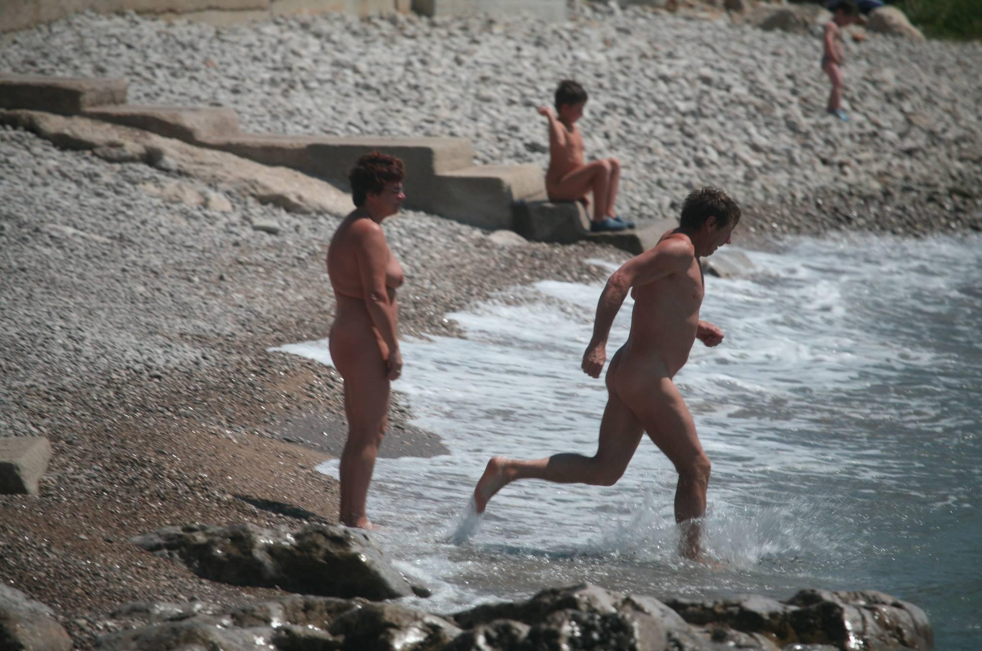 Pure Nudism Images Cove Pyramid Close Shore - 1