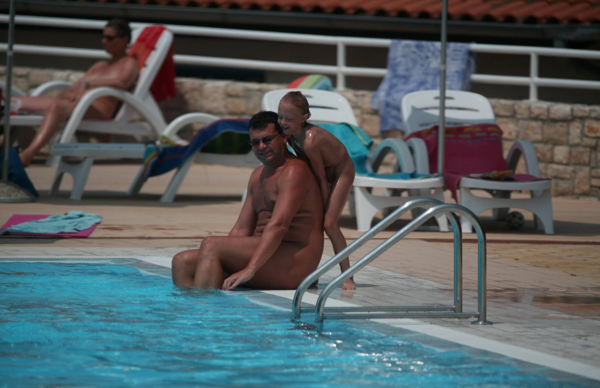 Daughter and Fathers Pool - 2