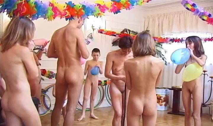 RussianBare Videos French Birthday Party Part 1 - 2