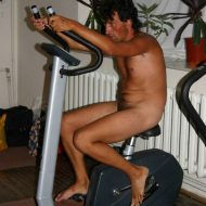 Family Nudist Gym Shots