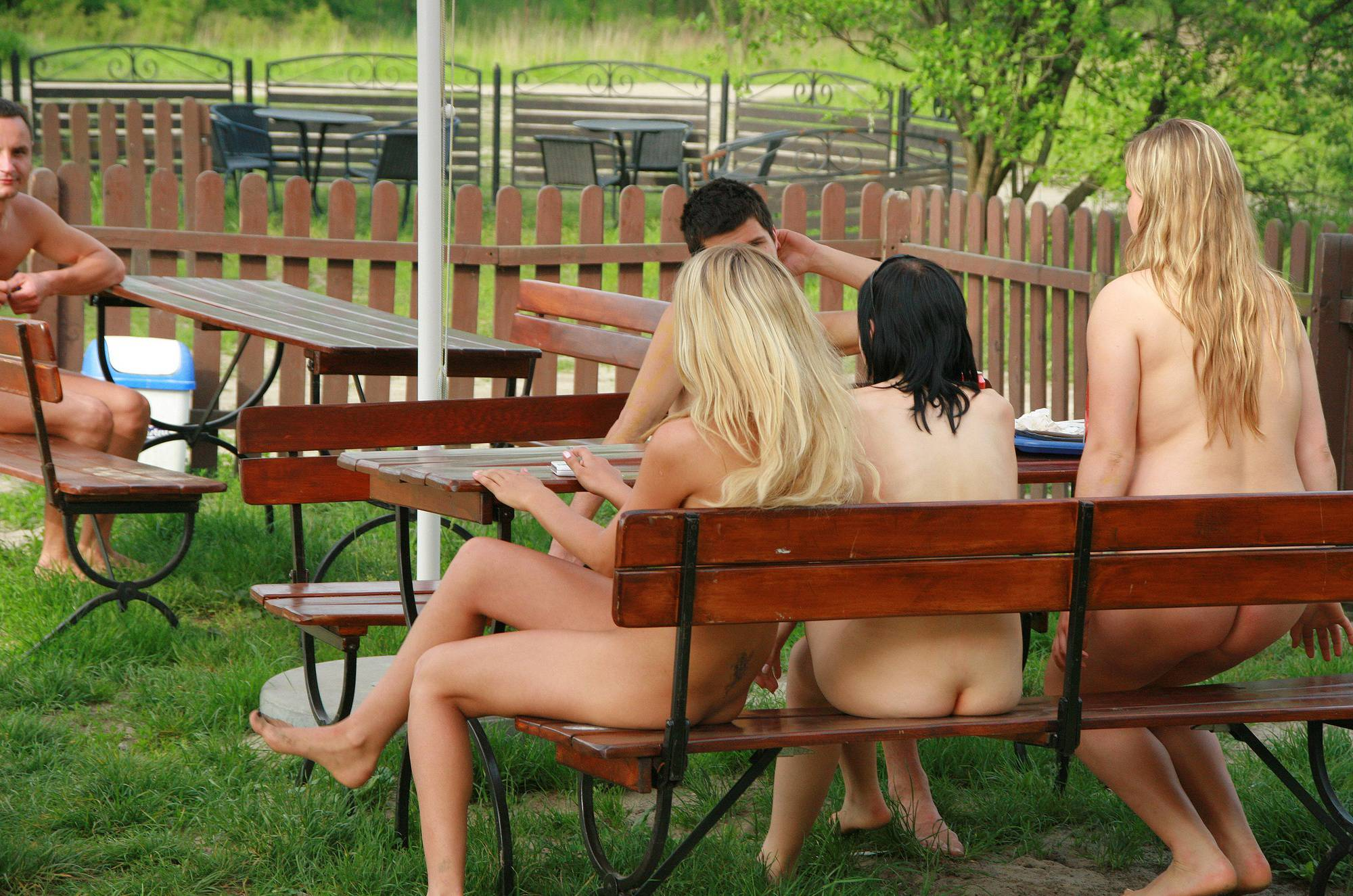 Pure Nudism Images Lake Kryspinow Eating Out - 1