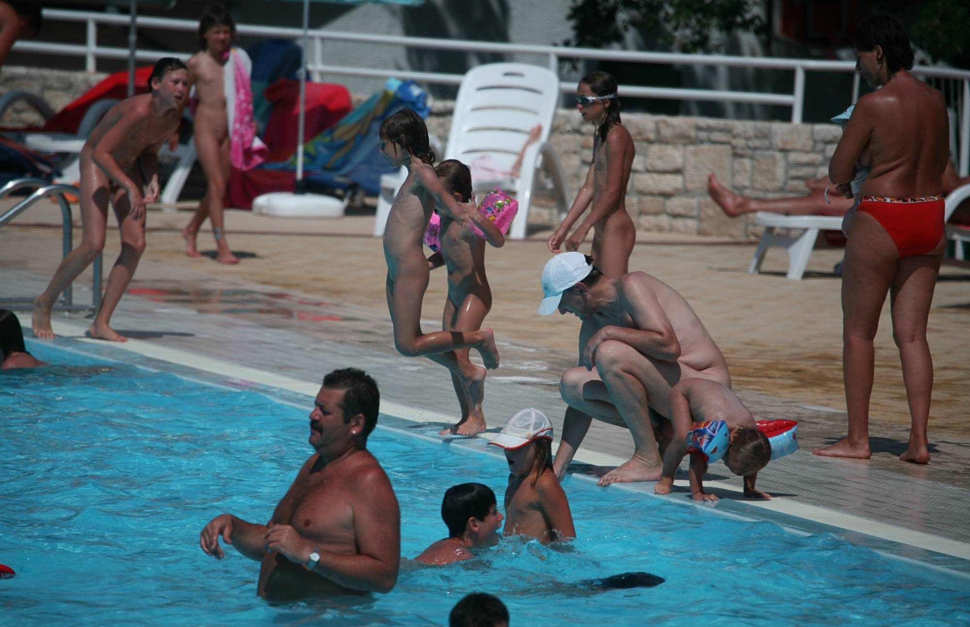 Nudist Pictures Large Pool Gatherings - 1