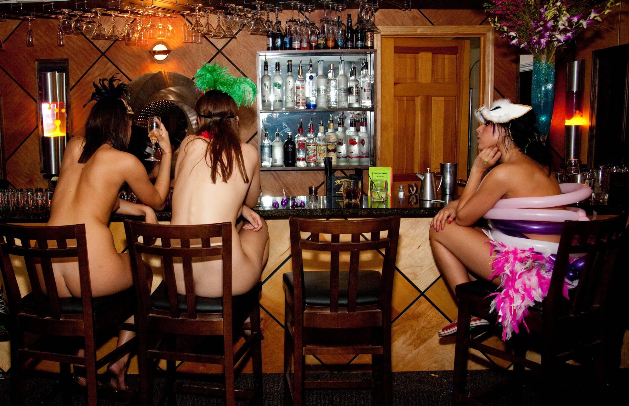 Nudist Pictures Masquerade Bar Scene - 1