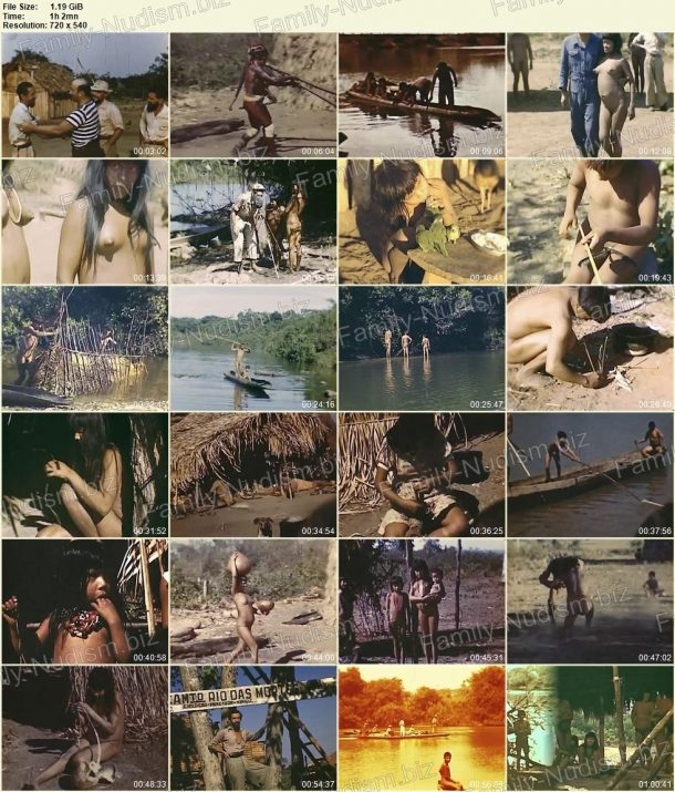 Xingu indians - Expedition to rainforests of Brazil in 1948 shots 1