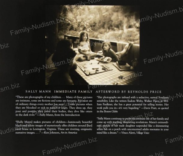 Sally Mann - Immediate Family (Book)-Back