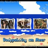 Bodypainting am Meer video from Naturistin