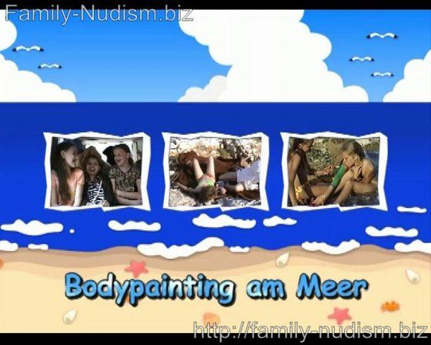 Bodypainting am Meer - Naturistin.com
