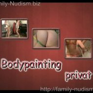 Bodypainting Privat video