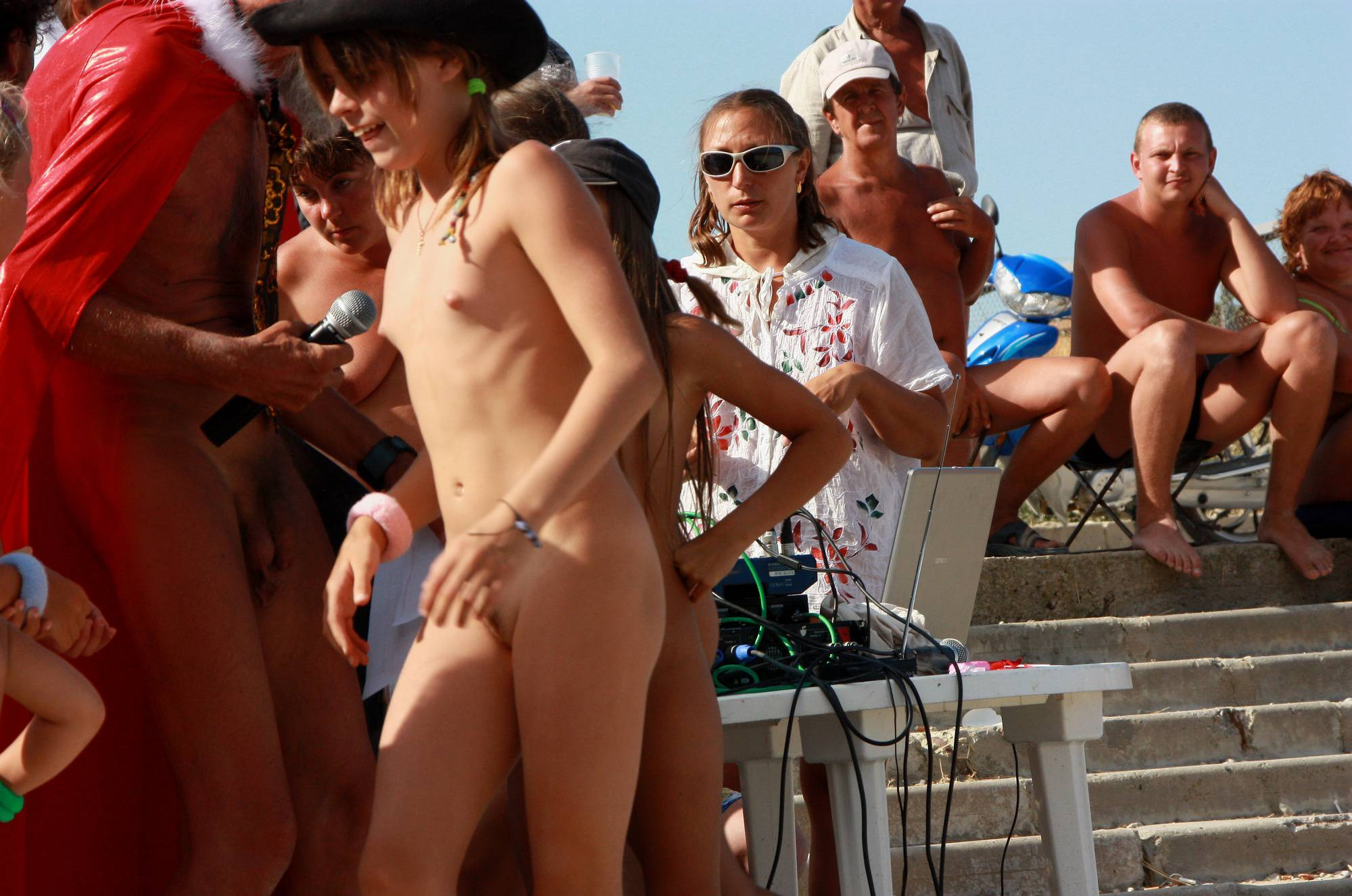 Nudist Pictures Naturist Duet Beach Dance - 2