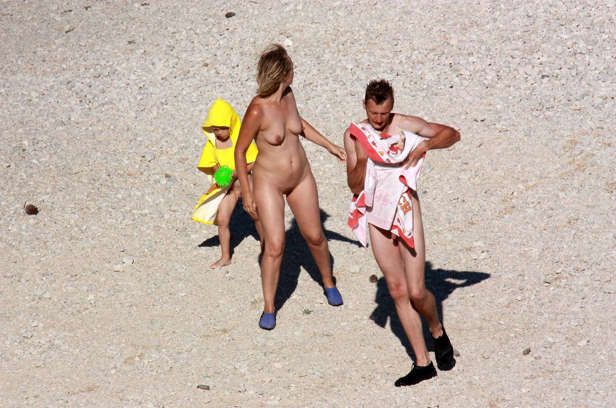 Naturist Family on Beach - 2