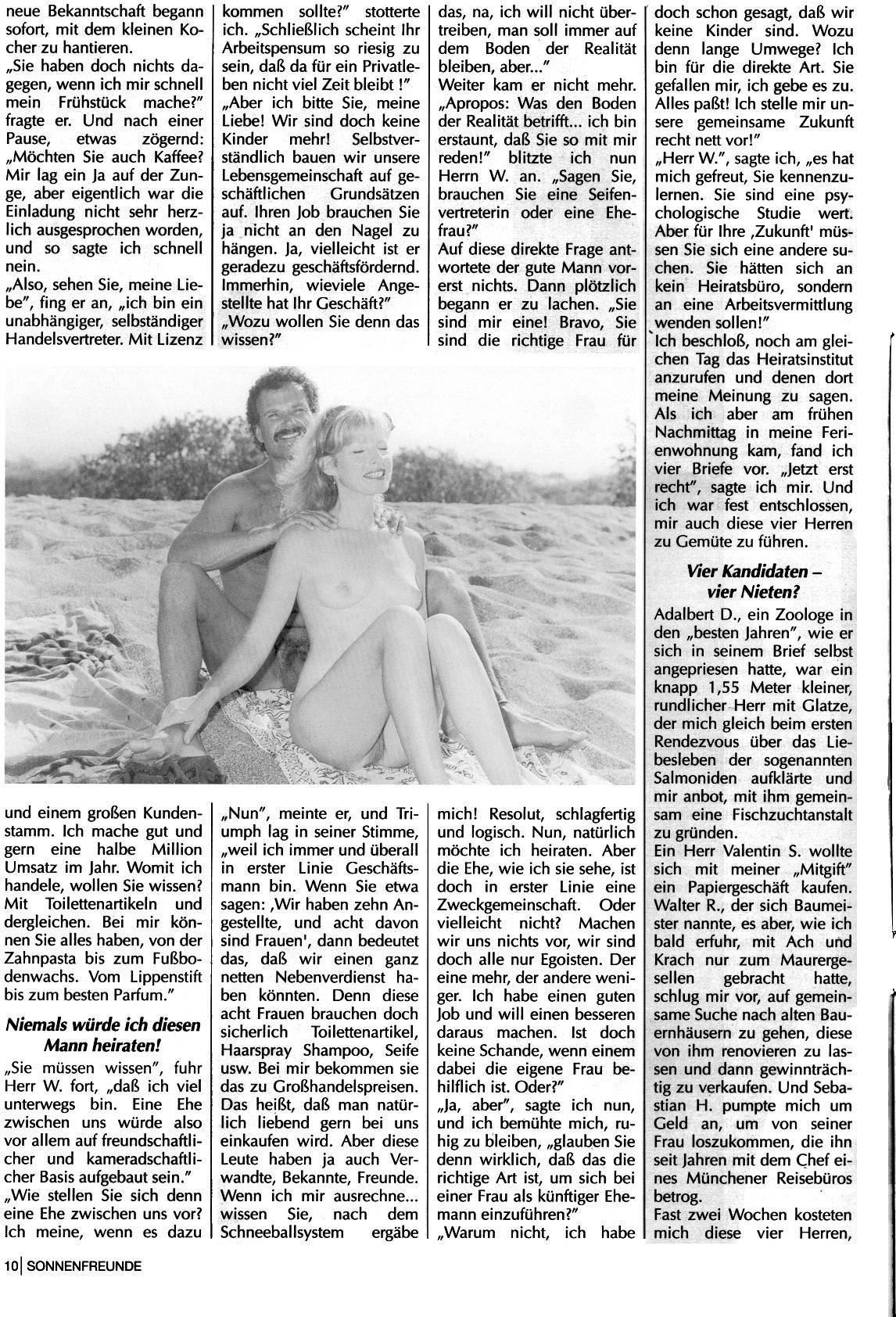 Nudist Magazines Sonnenfreunde 1993 Nr.7 - 2