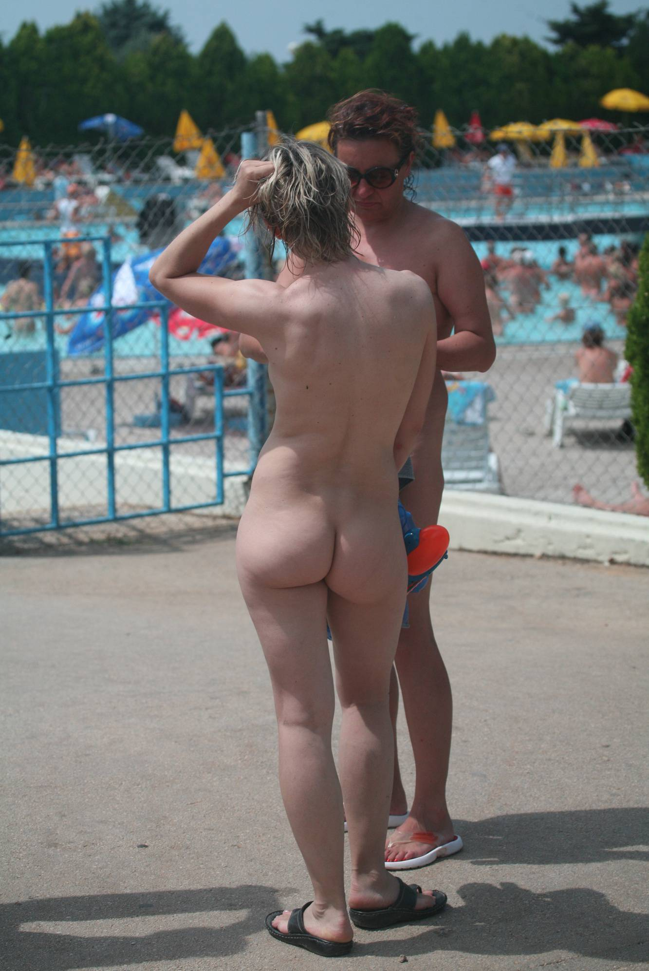Naturist Pool Exit Stand-By - 1