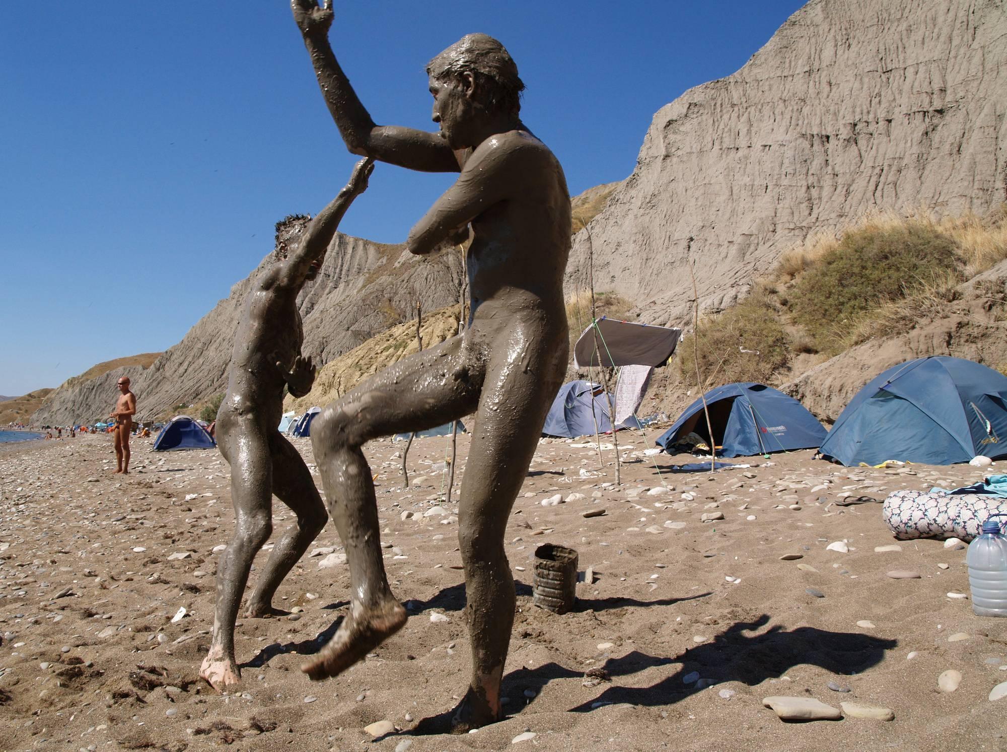 Nude Beach Mud Soldiers - 2