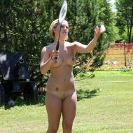 Nudist Badminton Game