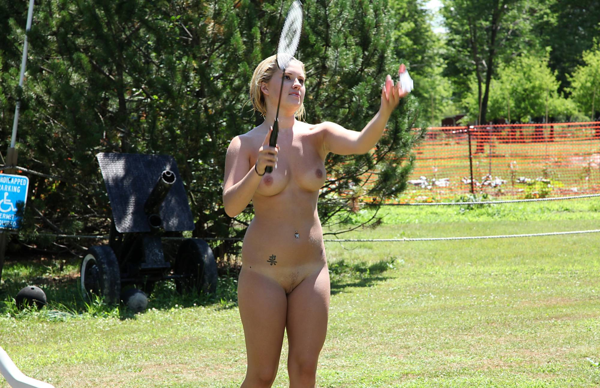 Pure Nudism Images Nudist Badminton Game - 1