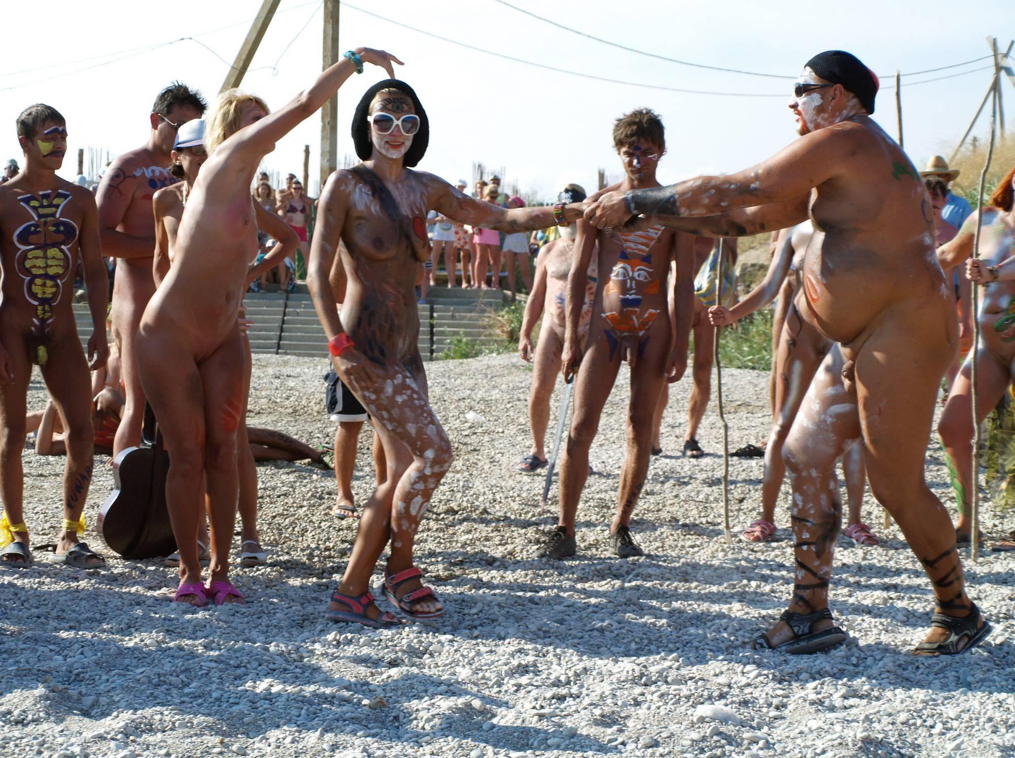 Nudist Photos Nudist Event Host Dancing - 1