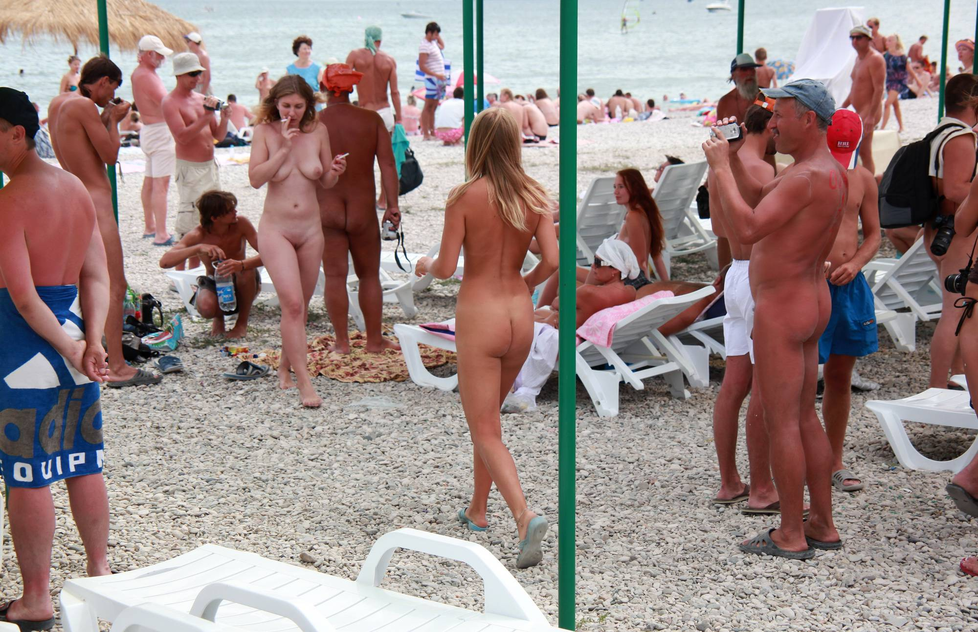 Nudist Girl Walk Following - 1