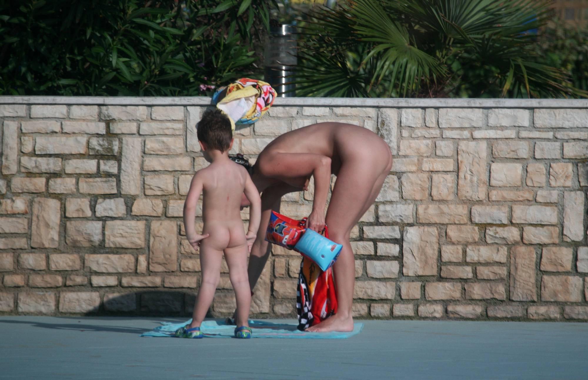 Nudist Pictures Naturist Poolside Watcher - 1