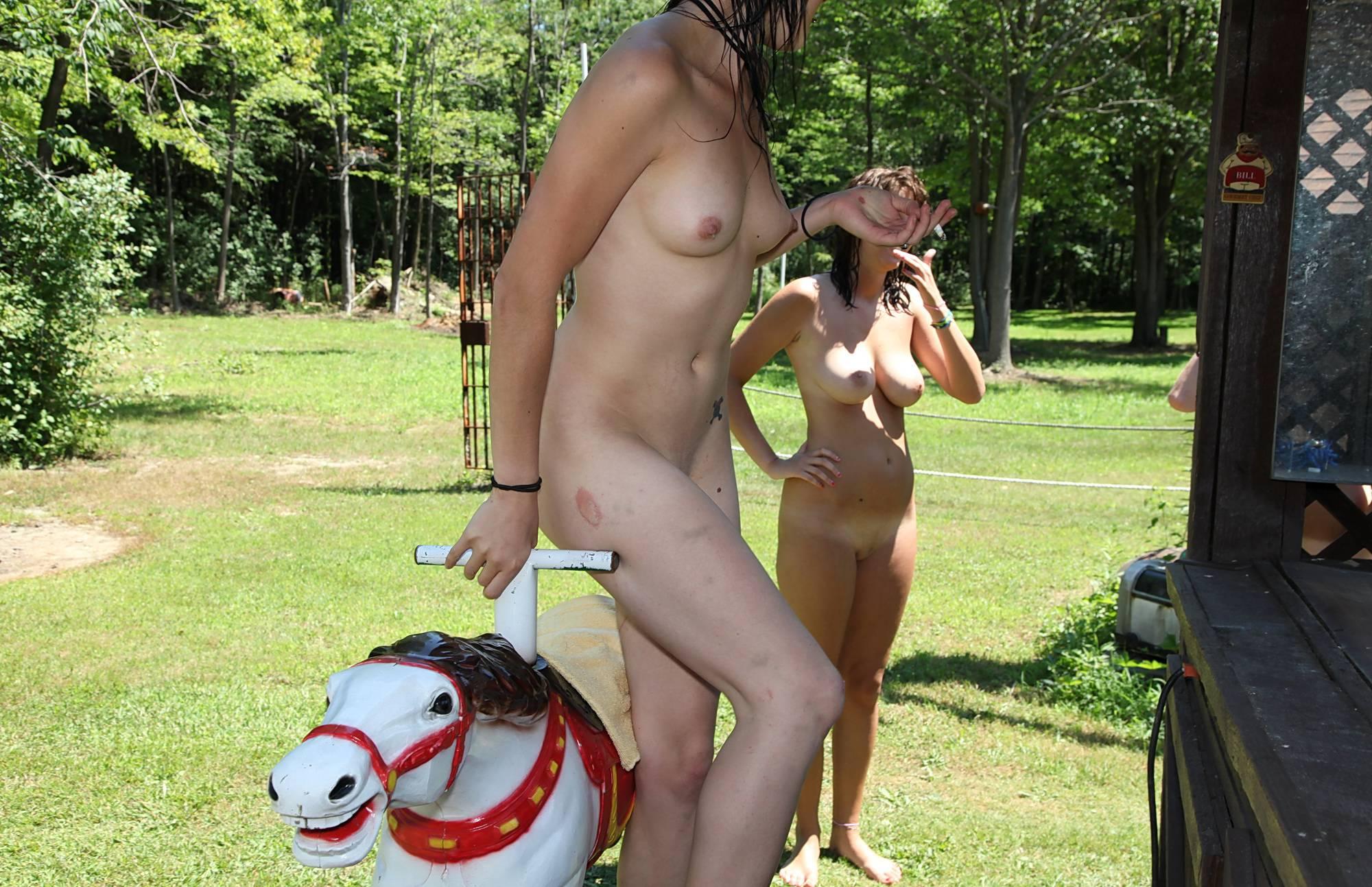 Nudist Photos Nude Pony Ride Attraction - 2