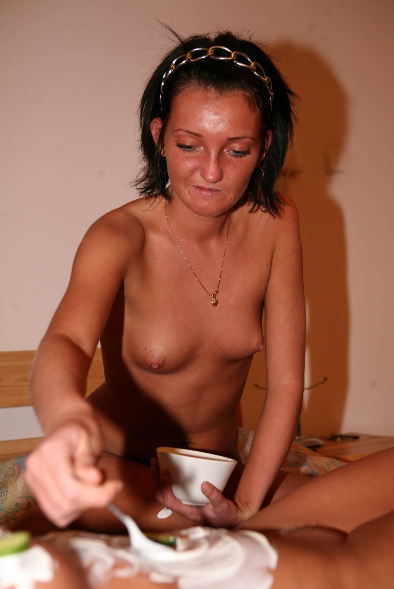Nudist Pics Jacuzzi Cucumber Mask - 1