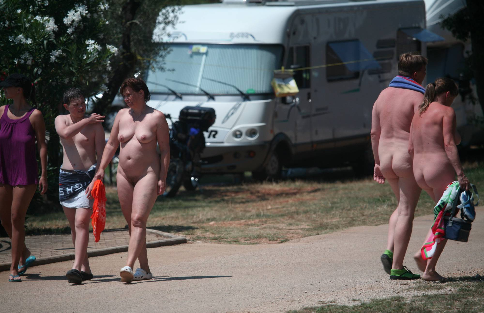 Nude By-Pool Passageway - 1