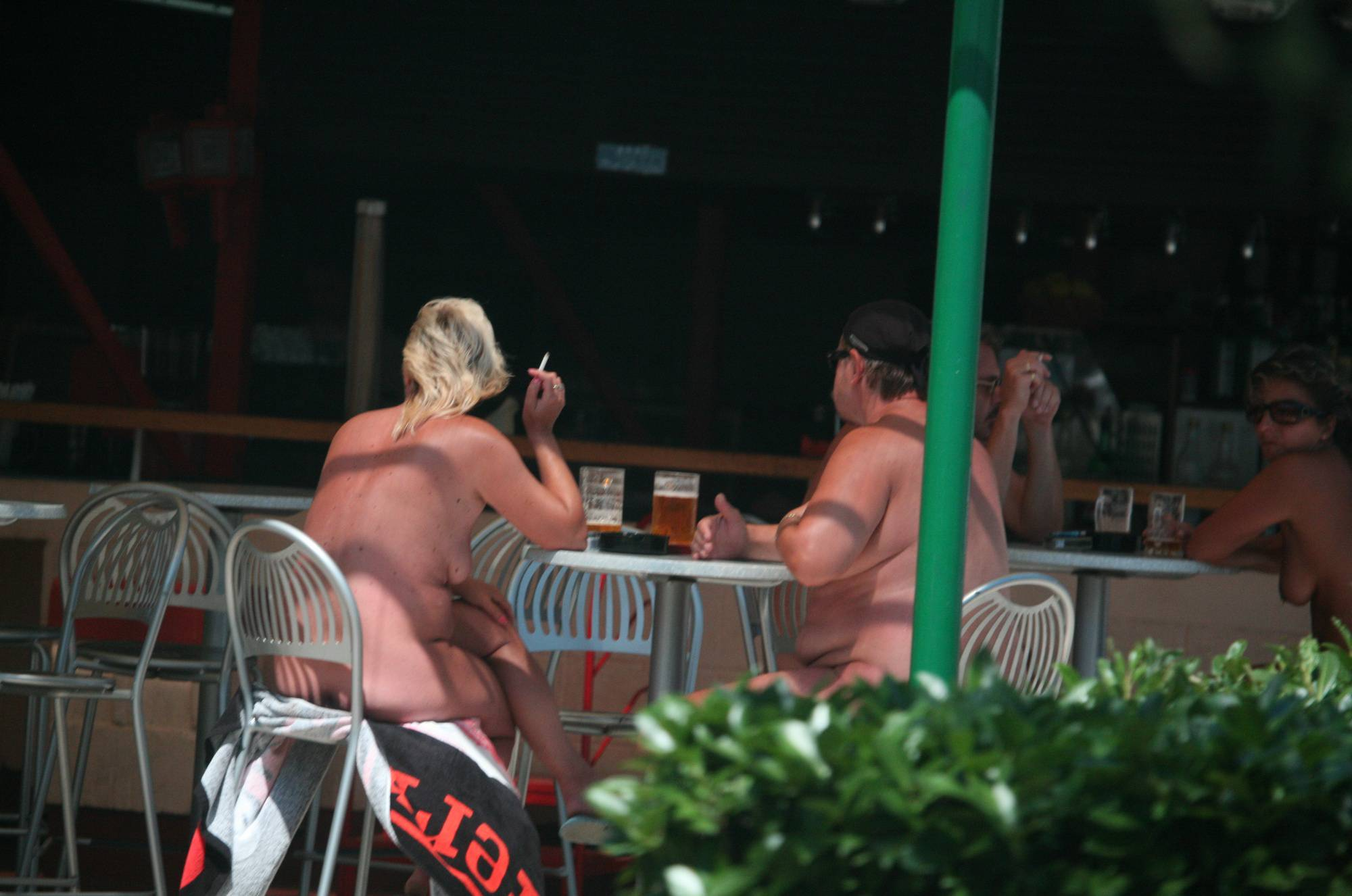 Nudist Pics Nora FKK Outdoor Dinning - 2