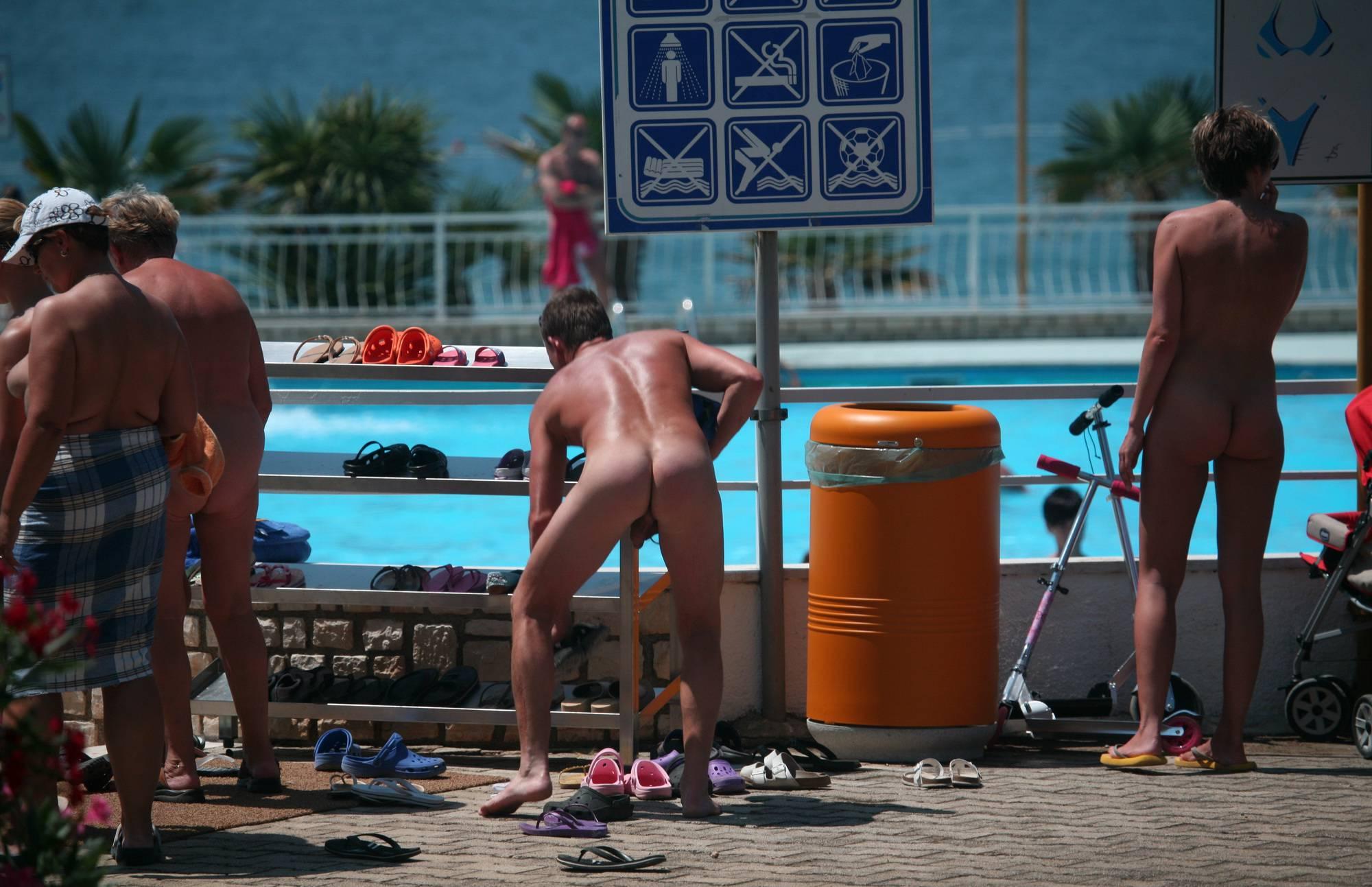 Nudist Pics Outdoor Pool Sideliners - 1