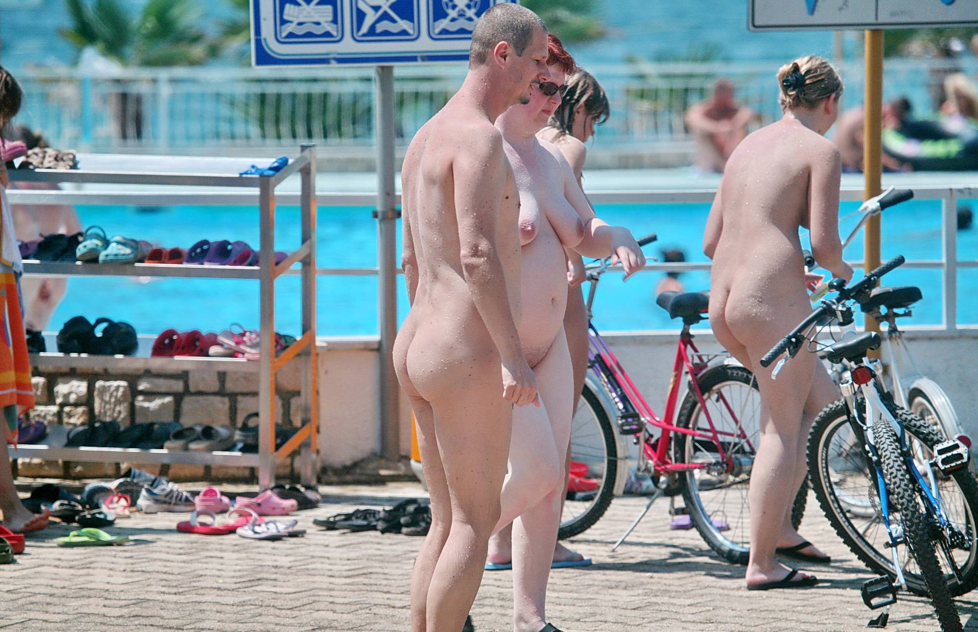 Nudist Photos Out and About From the Pool - 2