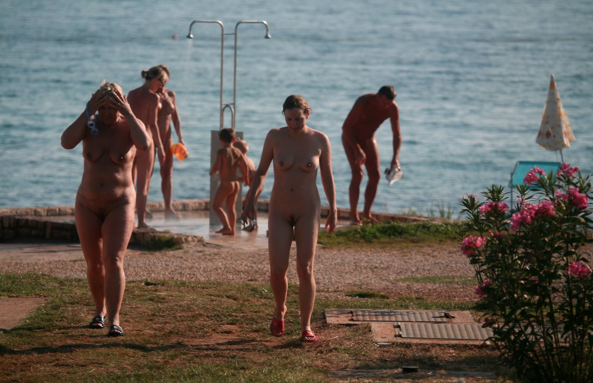 Pure Nudism Images Naturist Shower Series - 1