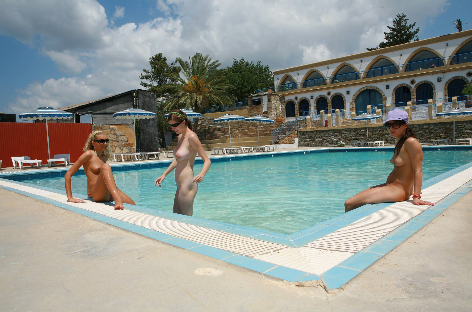 Greek Poolside Lounging - 1