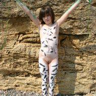 Rock-Front Nude Body Art