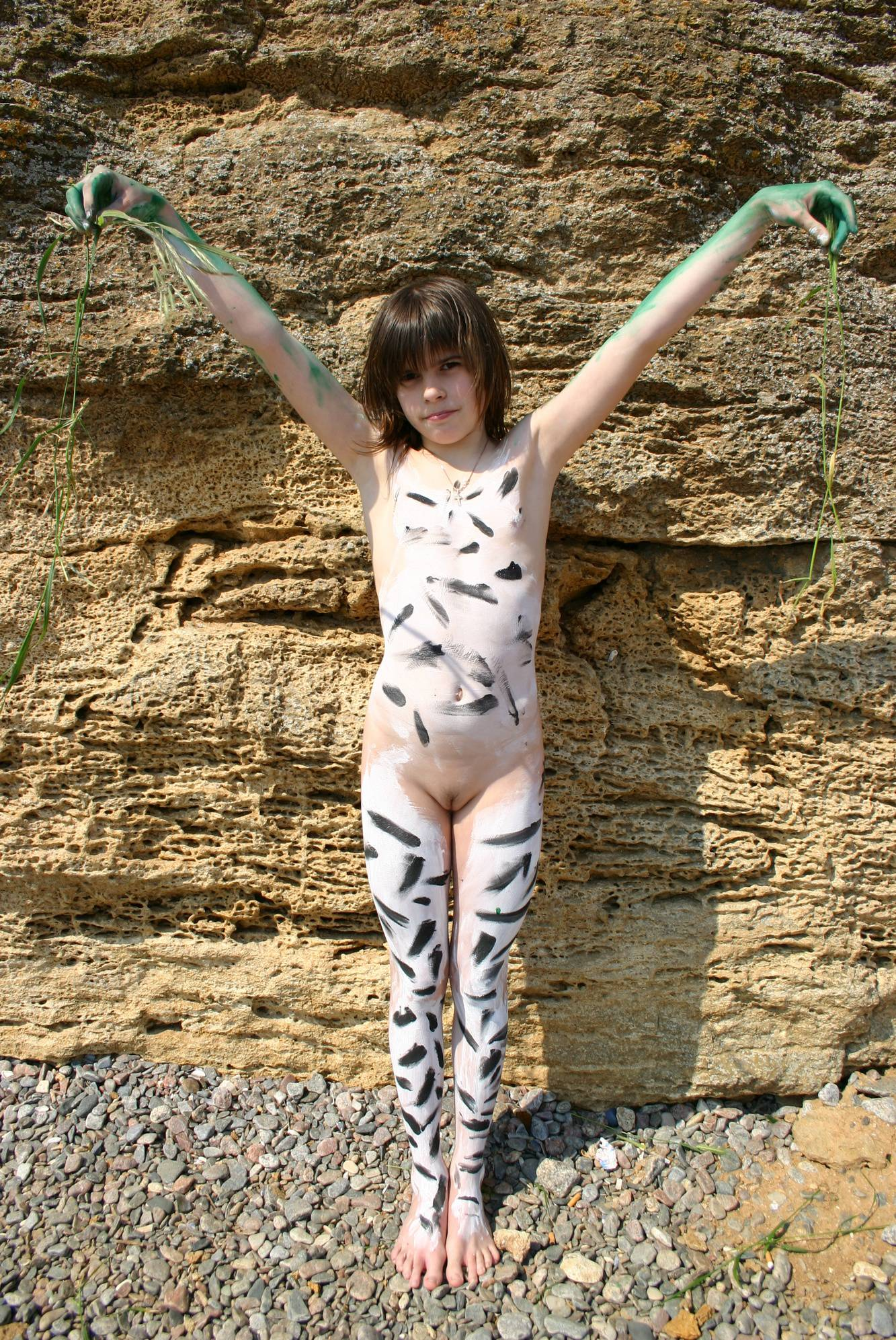 Nudist Gallery Rock-Front Nude Body Art - 1
