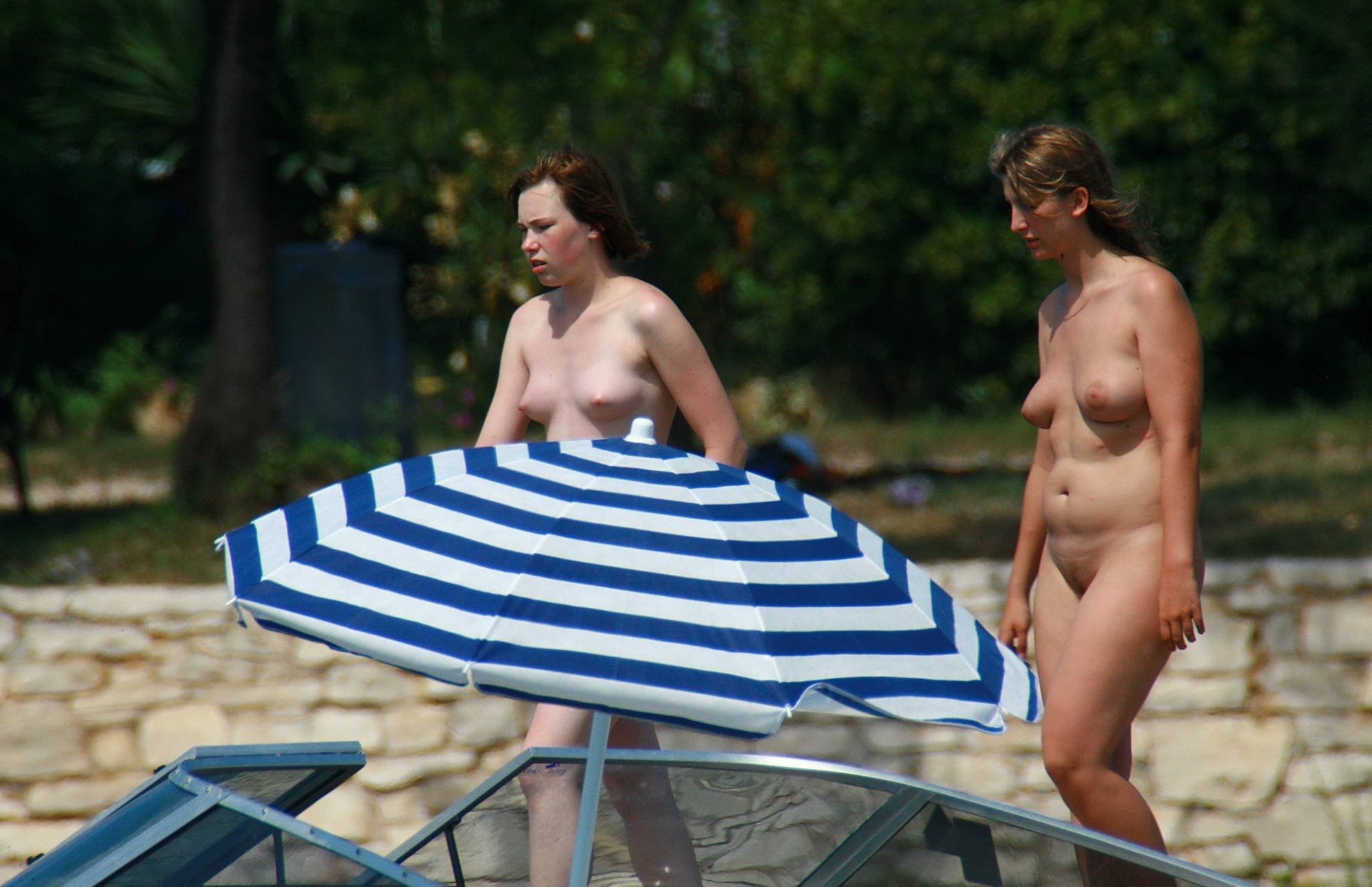Pure Nudism Simple Stroll On The Pier - 2