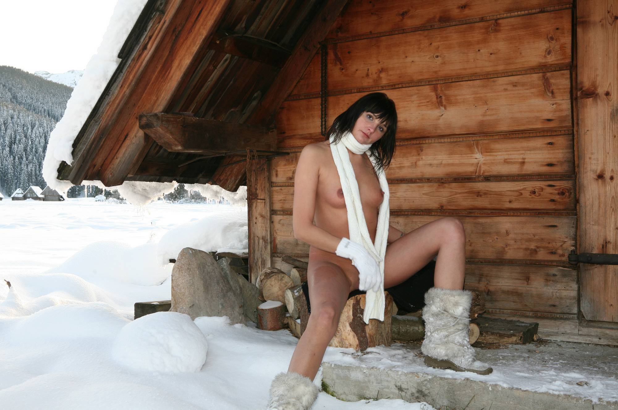 Nudist Pictures Snow Day Girl's Cabin - 1