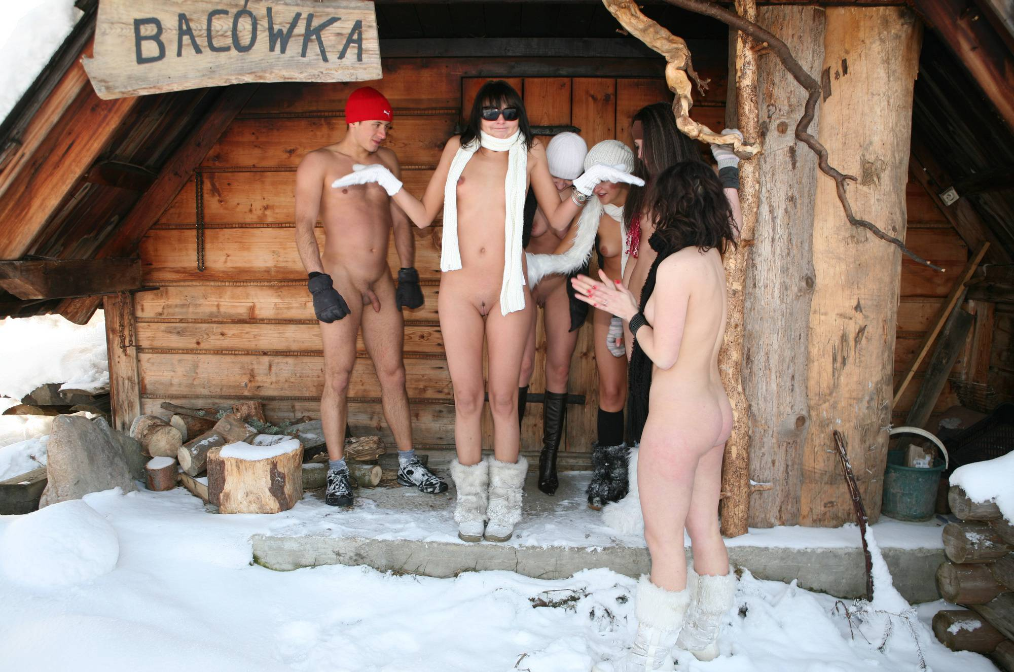 Pure Nudism Gallery Snow Day Group Cabin - 2