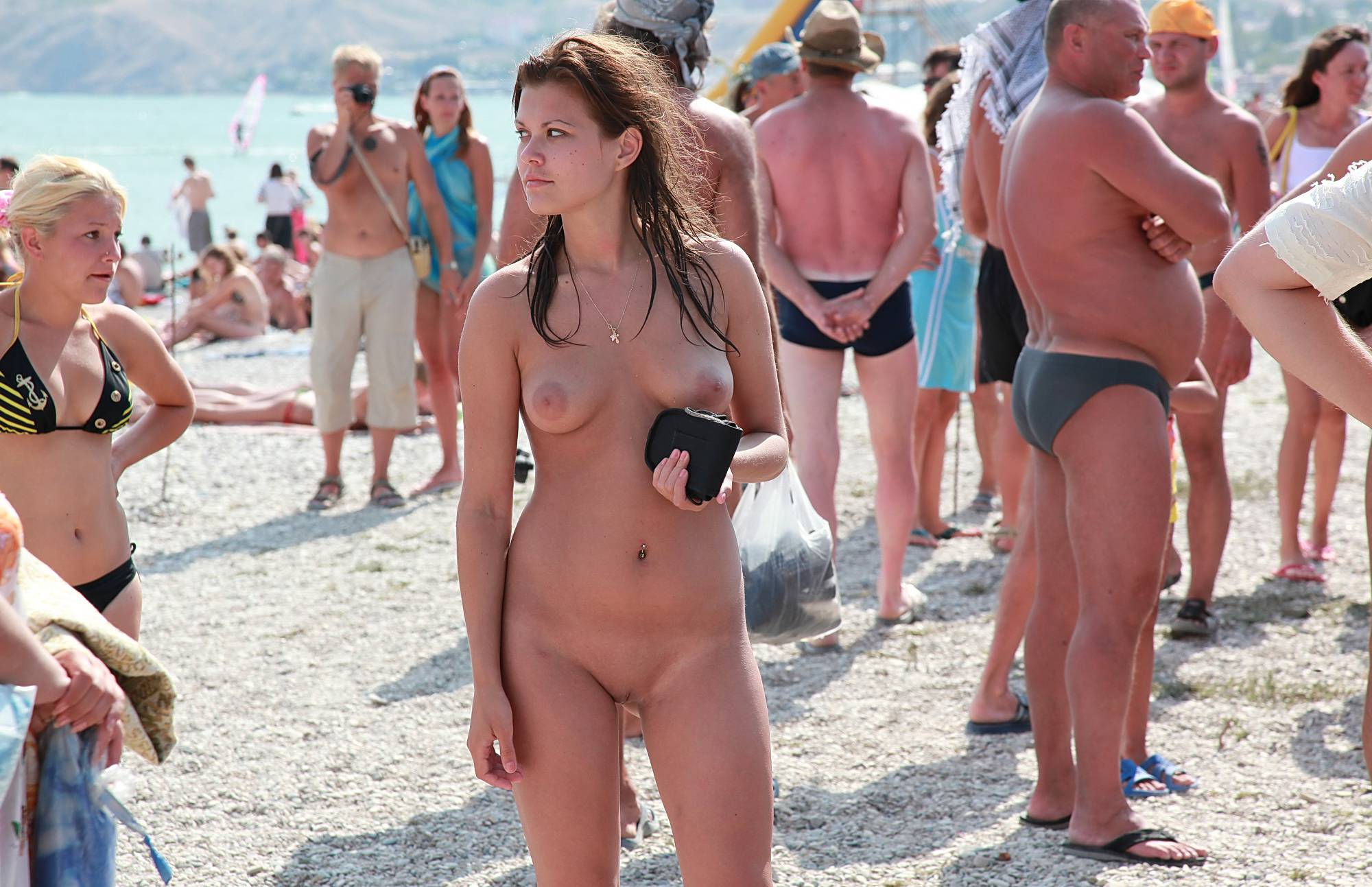 Sun-Lit Beach Naturists - 1