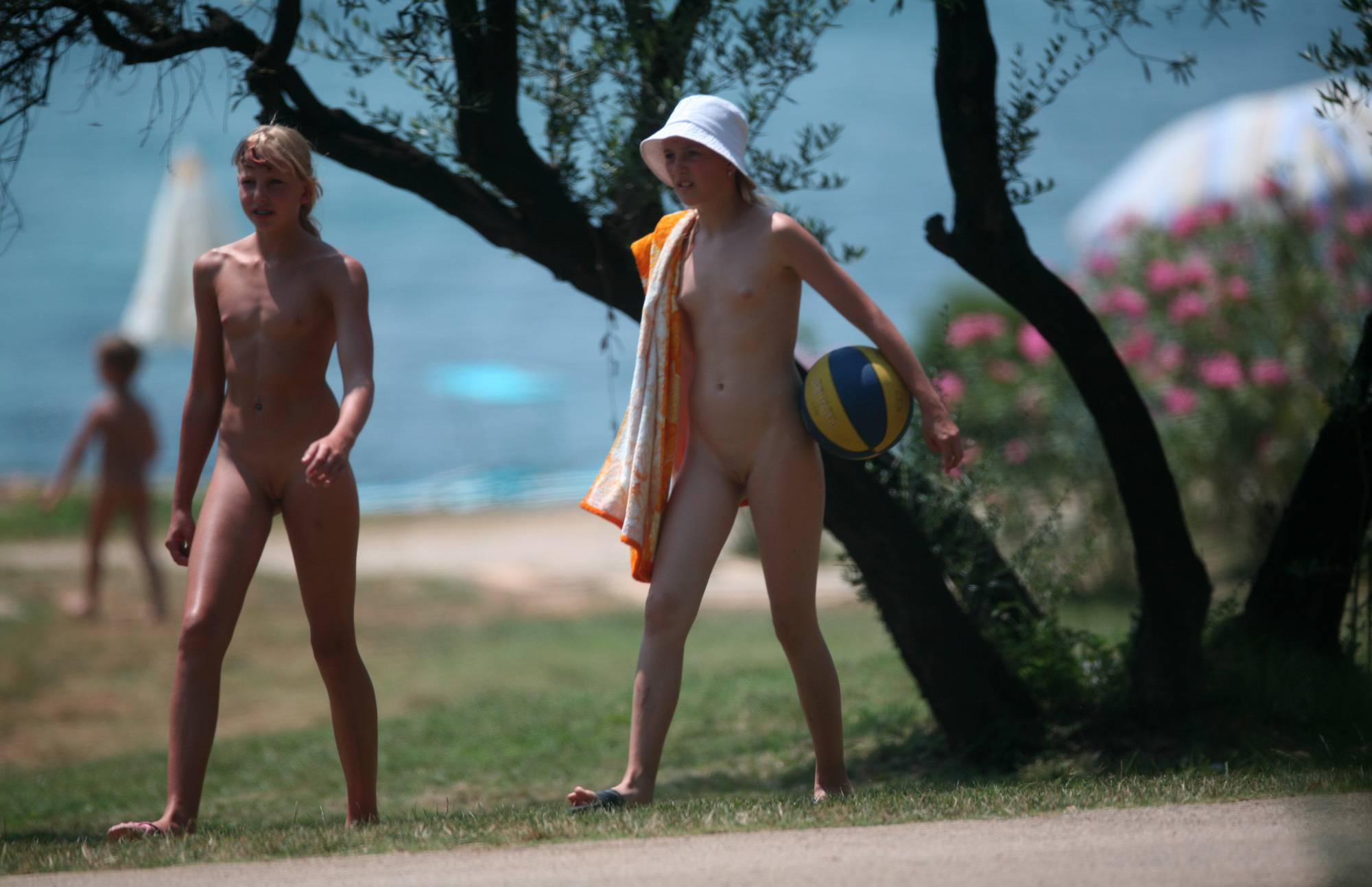Nudist Photos Two Nudist Friends Walk - 2